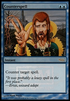 Magic the Gathering Promotional Single Counterspell FOIL (FNM) - SLIGHT PLAY (SP)