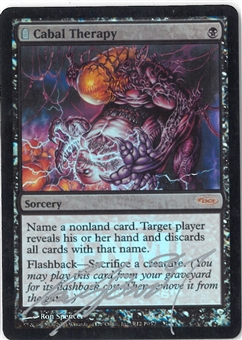 Magic the Gathering Promotional Single Cabal Therapy (FNM FOIL) SIGNED - SLIGHT PLAY
