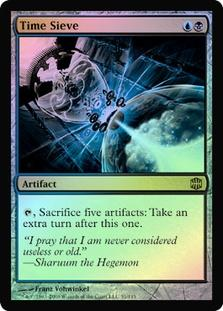 Magic the Gathering Alara Reborn Single Time Sieve FOIL - NEAR MINT / SLIGHT PLAY (NM/SP)