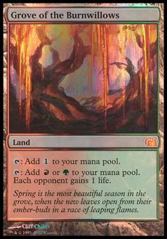 Magic the Gathering From The Vault Single Grove of the Burnwillows FOIL - SLIGHT PLAY (SP)