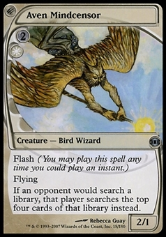 Magic the Gathering Future Sight Single Aven Mindcensor - MODERATE PLAY (MP)
