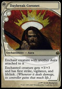 Magic the Gathering Future Sight Single Daybreak Coronet - MODERATE PLAY (MP)
