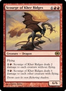 Magic the Gathering Future Sight Single Scourge of Kher Ridges - SLIGHT PLAY (SP)