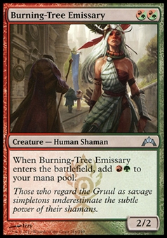 Magic the Gathering Gatecrash Single Burning-Tree Emissary FOIL - NEAR MINT (NM)