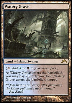 Magic the Gathering Gatecrash Single Watery Grave - SLIGHTLY PLAYED (SP)