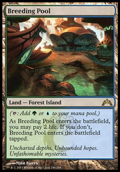 Magic the Gathering Gatecrash Single Breeding Pool FOIL - MODERATE PLAY (MP)
