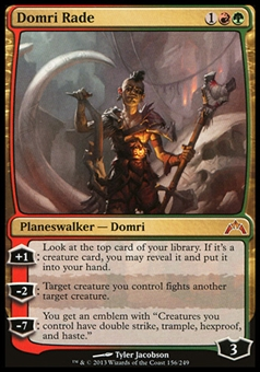 Magic the Gathering Gatecrash Single Domri Rade FOIL - SLIGHT PLAY (SP)