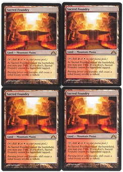 Magic the Gathering Gatecrash PLAYSET Sacred Foundry X4 - NEAR MINT (NM)