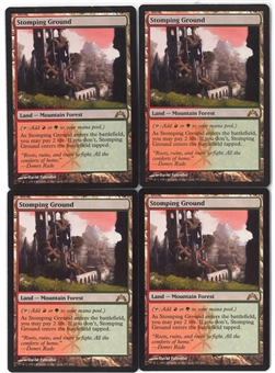 Magic the Gathering Gatecrash Single PLAYSET Stomping Ground X4 - NEAR MINT (NM)