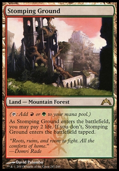 Magic the Gathering Gatecrash Single Stomping Ground - MODERATE PLAY (MP)