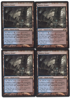 Magic the Gathering Gatecrash Single PLAYSET Watery Grave X4 - NEAR MINT (NM)