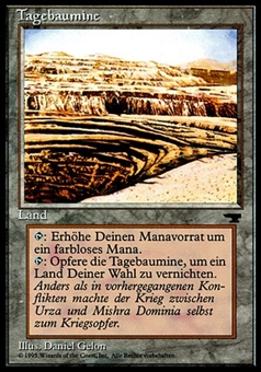 Magic the Gathering Antiquities GERMAN Single Strip Mine - NEAR MINT (NM)