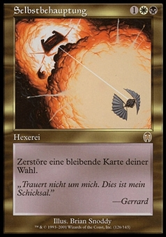 Magic the Gathering Apocalypse GERMAN Single Vindicate - SLIGHT PLAY (SP)