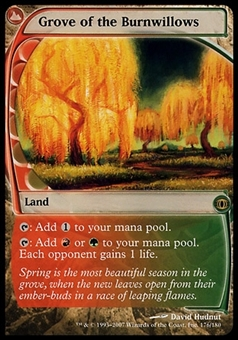 Magic the Gathering Future Sight Single Grove of the Burnwillows - MODERATE PLAY (MP)