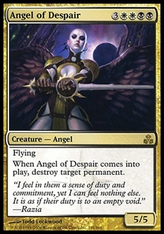 Magic the Gathering Guildpact Single Angel of Despair - HEAVY PLAY (HP)