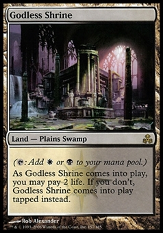 Magic the Gathering Guildpact Single Godless Shrine FOIL - SLIGHT PLAY (SP)