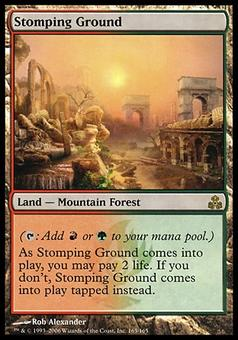 Magic the Gathering Guildpact Single Stomping Ground FOIL - NEAR MINT (NM)