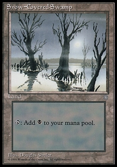 Magic the Gathering Ice Age Single Snow-Covered Swamp - NEAR MINT (NM)