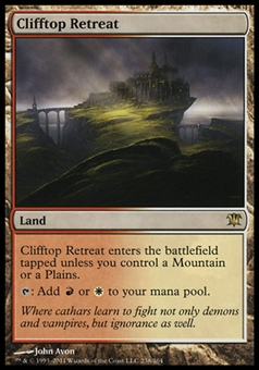 Magic the Gathering Innistrad Single Clifftop Retreat - SLIGHT PLAY (SP)