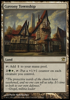 Magic the Gathering Innistrad Single Gavony Township - SLIGHT PLAY (SP)