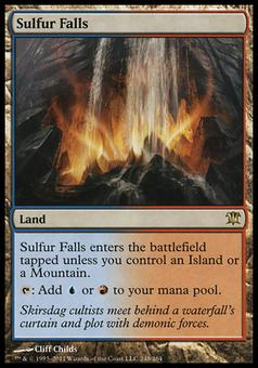 Magic the Gathering Innistrad Single Sulfur Falls FOIL - SLIGHT PLAY (SP)