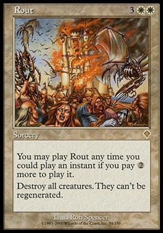 Magic the Gathering Invasion Single Rout FOIL - MODERATE PLAY (MP)