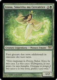 Magic the Gathering Champions of Kamigawa ITALIAN Single Azusa, Lost but Seeking - MODERATE PLAY (MP)