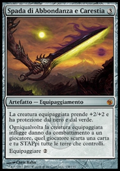 Magic the Gathering Mirrodin Besieged ITALIAN Single Sword of Feast and Famine