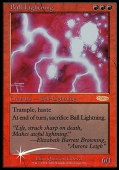 Magic the Gathering Promotional Single Ball Lightning FOIL - SLIGHT PLAY (SP)