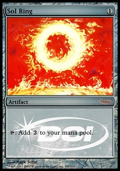 Magic the Gathering Promotional Single Sol Ring FOIL (JUDGE) - SLIGHT PLAY (SP)
