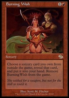 Magic the Gathering Judgment Single Burning Wish - SLIGHT PLAY (SP)