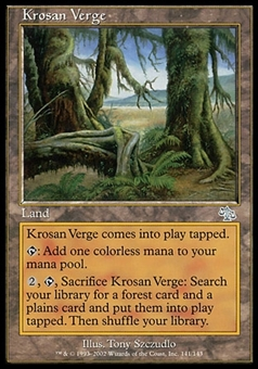 Magic the Gathering Judgment Single Krosan Verge FOIL - MODERATE PLAY (MP)