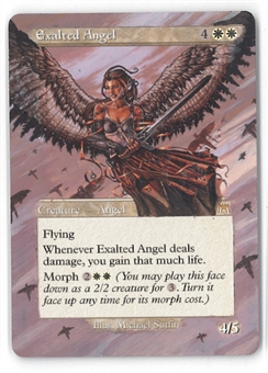 Magic the Gathering Onslaught ALTERED Single Exalted Angel - MODERATE PLAY (MP)