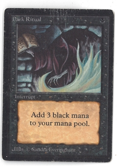 Magic the Gathering Beta Single Dark Ritual - HEAVY PLAY (HP)