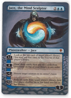 Magic the Gathering Worldwake ALTERED Single Jace, the Mind Sculptor - SLIGHT PLAY (SP)