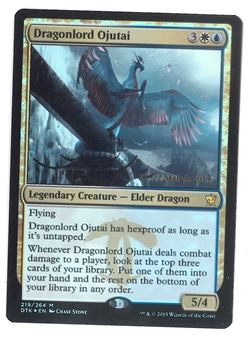 Magic the Gathering Promo Single Dragonlord Ojutai FOIL - NEAR MINT (NM)