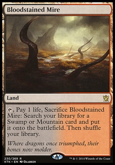 Magic the Gathering Khans of Tarkir Single Bloodstained Mire FOIL - SLIGHT PLAY (SP)