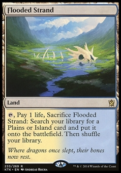 Magic the Gathering Khans of Tarkir Single Flooded Strand FOIL - SLIGHT PLAY (SP)