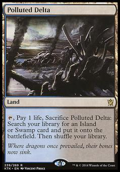 Magic the Gathering Khans of Tarkir Single Polluted Delta - SLIGHT PLAY (SP)