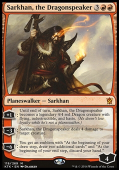 Magic the Gathering Khans of Tarkir Single Sarkhan, the Dragonspeaker (NO SERCURITY HOLOGRAM MISPRINT)