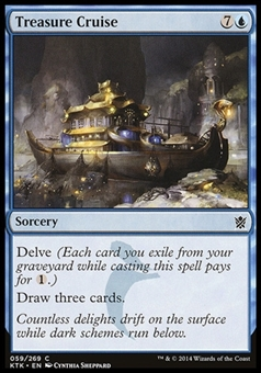 Magic the Gathering Khans of Tarkir Single Treasure Cruise FOIL - SLIGHT PLAY (SP)