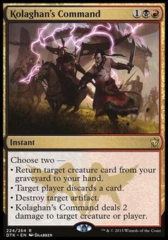 Magic the Gathering Dragons of Tarkir Single Kolaghan's Command - MODERATE PLAY (MP)