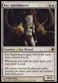 Magic the Gathering Rise of Eldrazi Single Kor Spiritdancer FOIL - SLIGHT PLAY (SP)