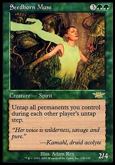 Magic the Gathering Legions Single Seedborn Muse - MODERATE PLAY (MP)