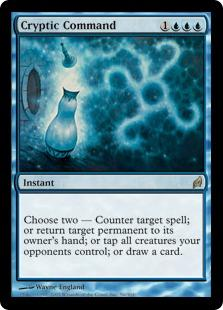 Magic the Gathering Lorwyn Single Cryptic Command - MODERATE PLAY (MP)