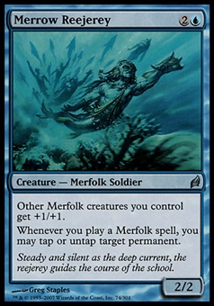 Magic the Gathering Lorwyn Single Merrow Reejerey FOIL - SLIGHT PLAY (SP)