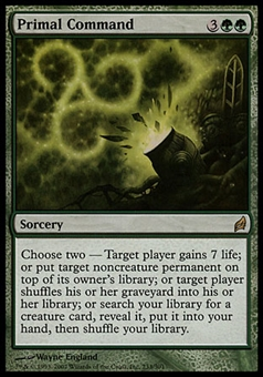 Magic the Gathering Lorwyn Single Primal Command FOIL - SLIGHLY PLAYED (SP)