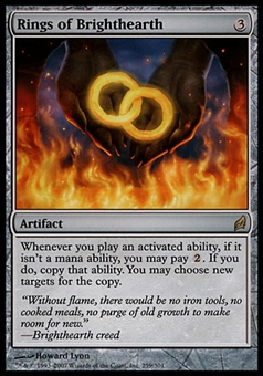 Magic the Gathering Lorwyn Single Rings of Brighthearth - SLIGHT PLAY (SP)