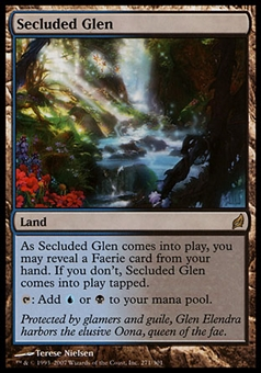Magic the Gathering Lorwyn Single Secluded Glen FOIL - MODERATE PLAY (MP)