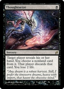 Magic the Gathering Lorwyn Single Thoughtseize - MODERATE PLAY (MP)